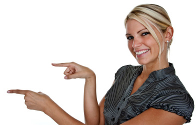 woman-pointing